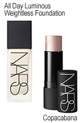 Nars Weightless Foundation and Copacabana